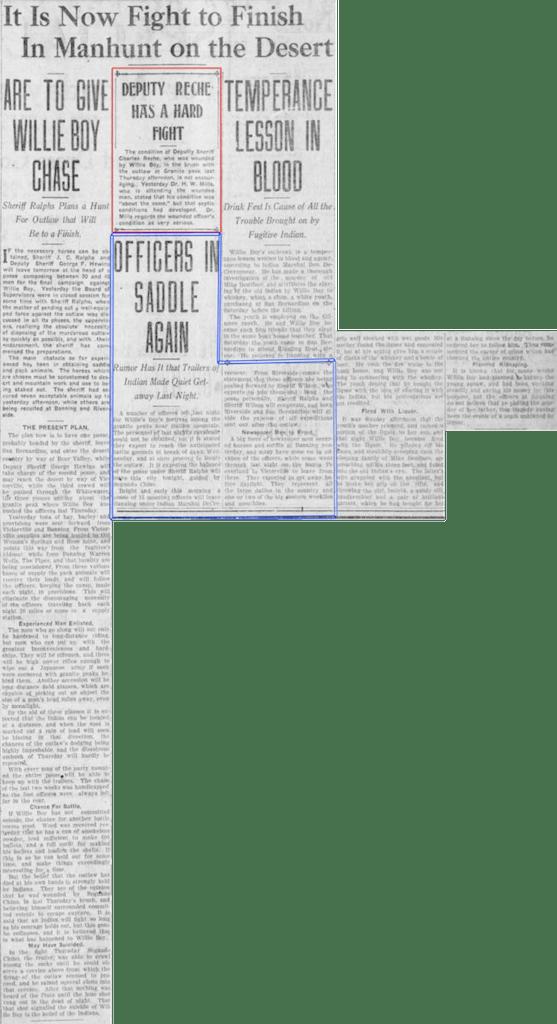 Oct. 12, 1909 - The San Bernardino County Sun article clipping