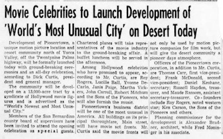 Sept. 1, 1946 - The San Bernardino County Sun article clipping