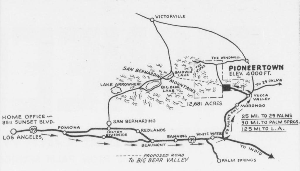 The above map shows its relation to Palm Springs.