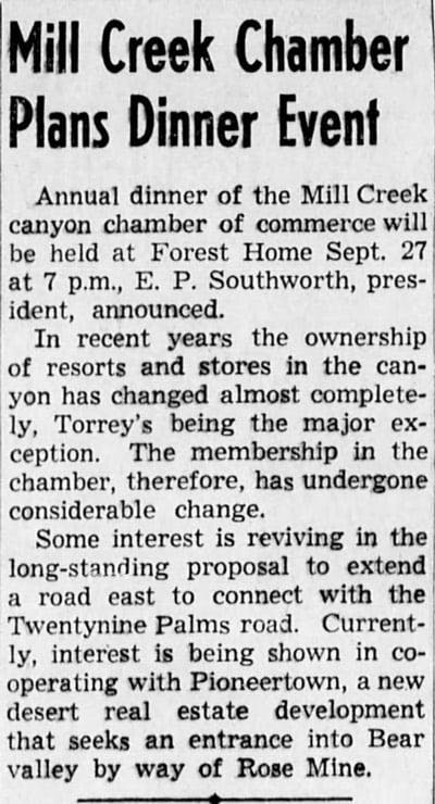 Sept. 10, 1947 - The San Bernardino County Sun article clipping