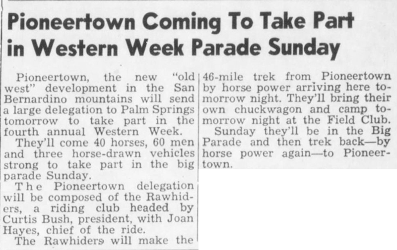 Oct. 17, 1947 - The Desert Sun article clipping