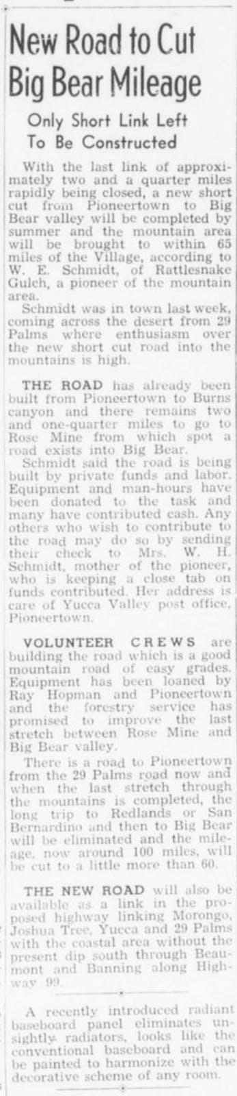 Mar. 26, 1948 - The Desert Sun article clipping
