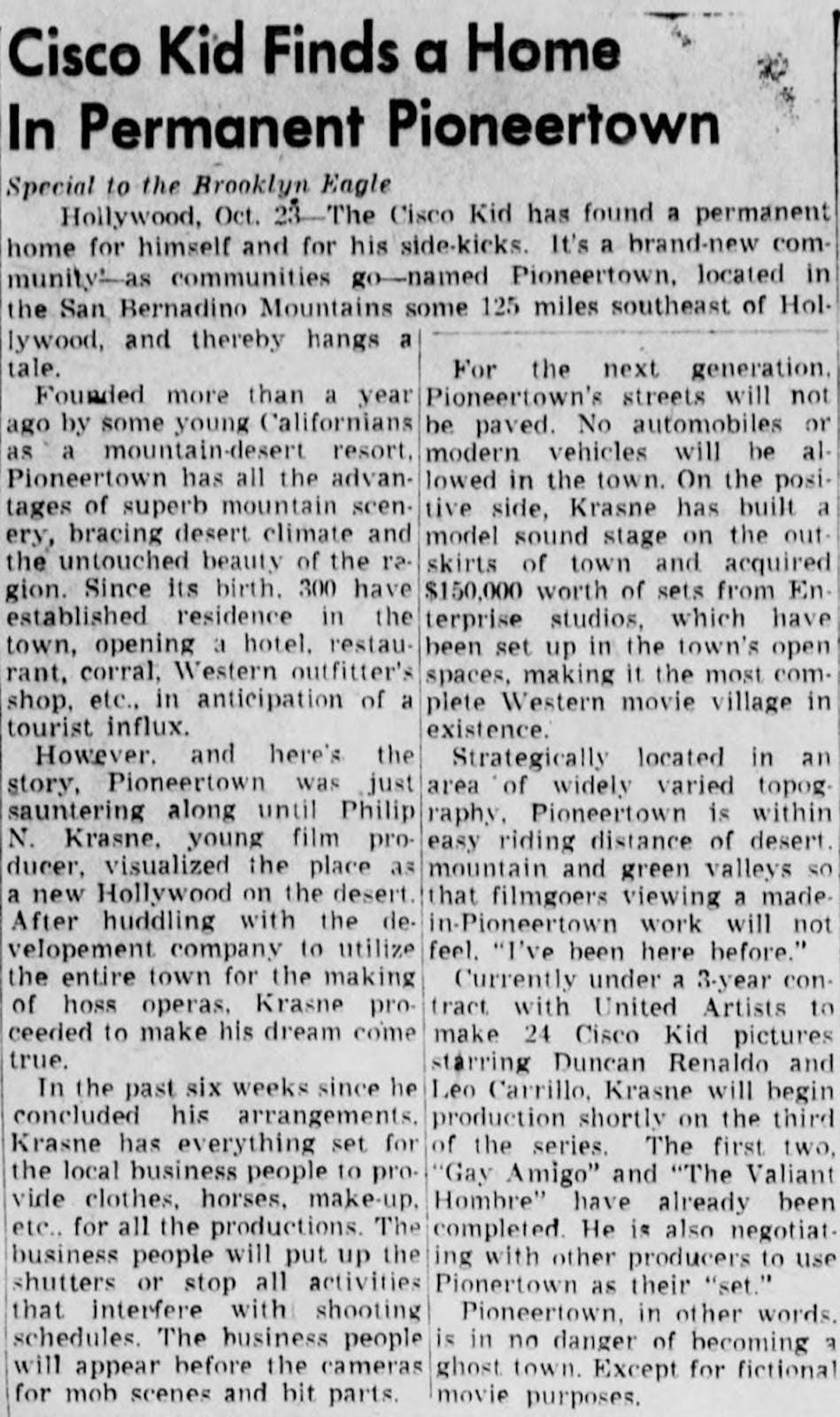 1948 Oct 24 - The Brooklyn Daily Eagle article clipping