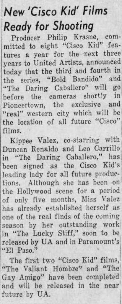Oct. 25, 1948 - The Evening News article clipping
