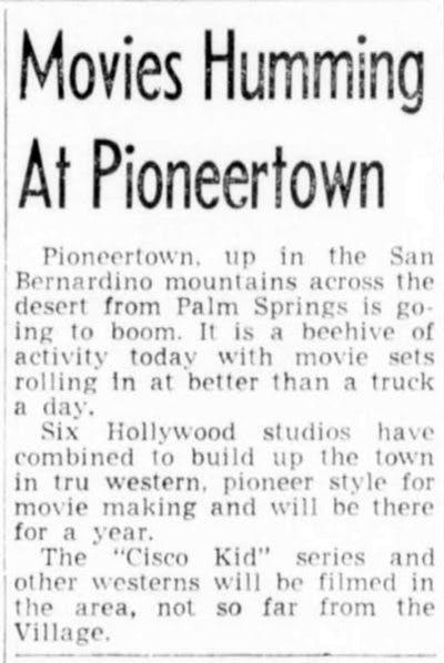Movies humming at Pioneertown clipping