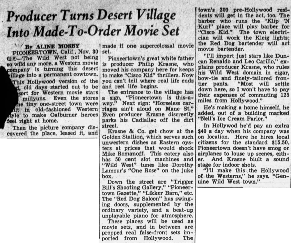 Dec. 1, 1948 - Tyler Morning Telegraph article clipping