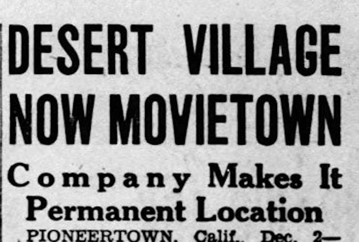 Desert village movietown featured image