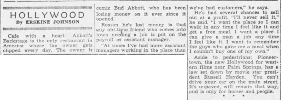 May 1, 1949 - The Ponca City News article clipping