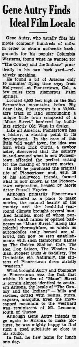 July 2, 1949 - Lansing State Journal article clipping