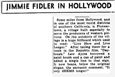 Sept. 13, 1949 - Joplin Globe article clipping