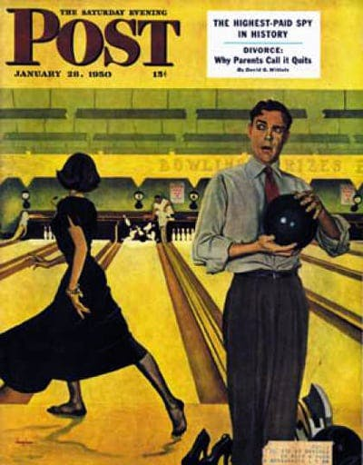 Saturday Evening Post cover image from January 28, 1950.