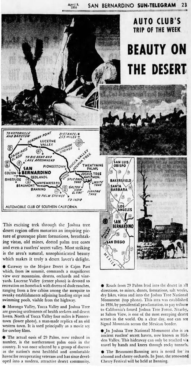 Apr. 9, 1950 - Beauty of the desert article clipping