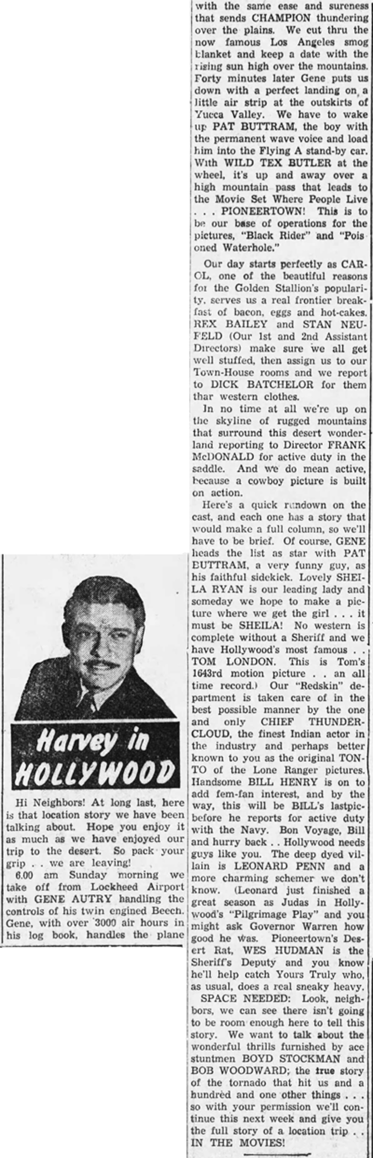 Harvey in Hollywood Sept. 4, 1950