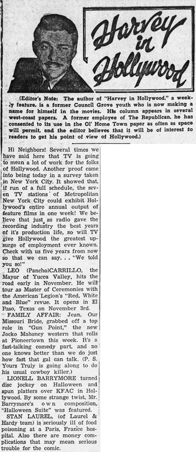 Harvey in Hollywood Nov. 13, 1950
