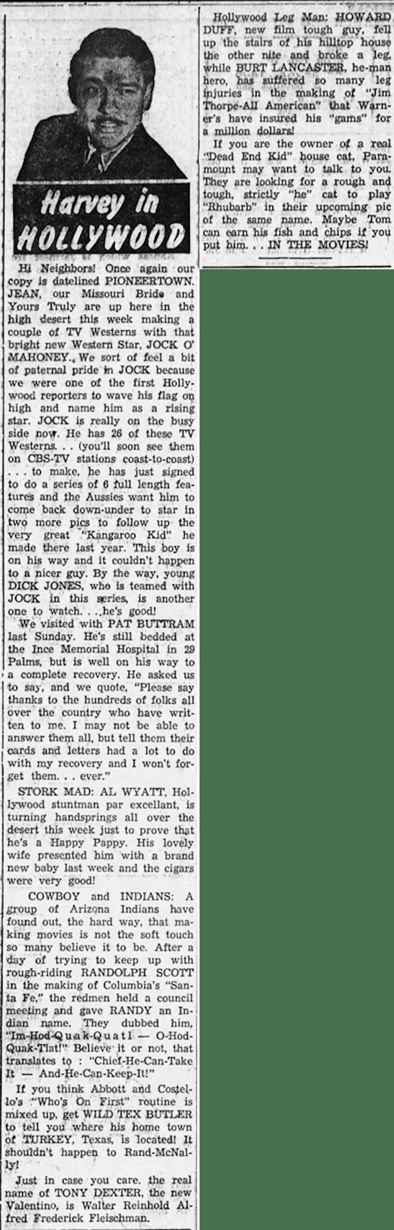 Harvey in Hollywood Nov. 9, 1950