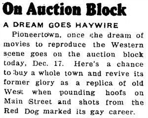 Dec. 17, 1953 - Desert Sentinel article clipping