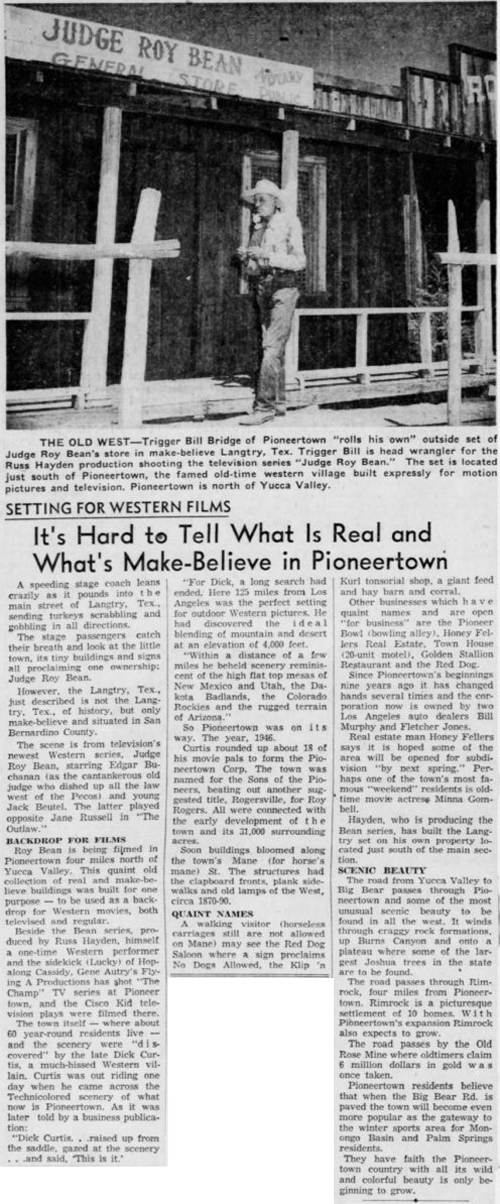 Oct. 16, 1955 - The San Bernardino County Sun article clipping