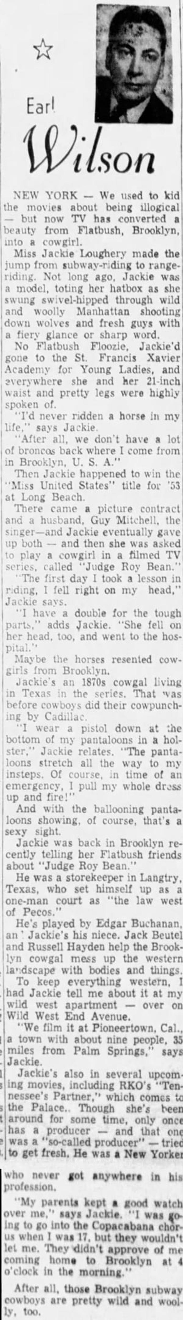 Earl Wilson article clipping
