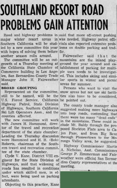 June 8, 1958 - The San Bernardino County Sun article clipping