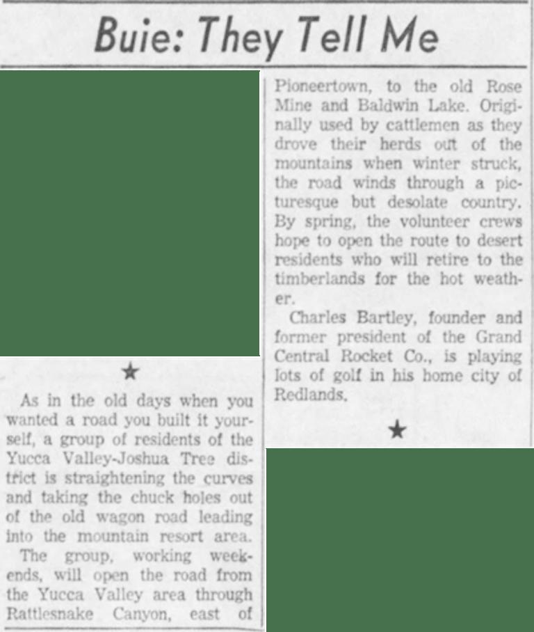Feb. 25, 1959 - The San Bernardino County Sun article clipping