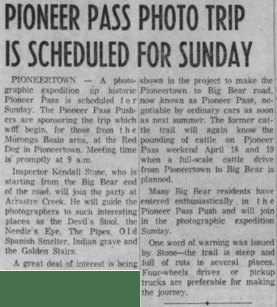 Feb. 6, 1959 - The San Bernardino County Sun article clipping