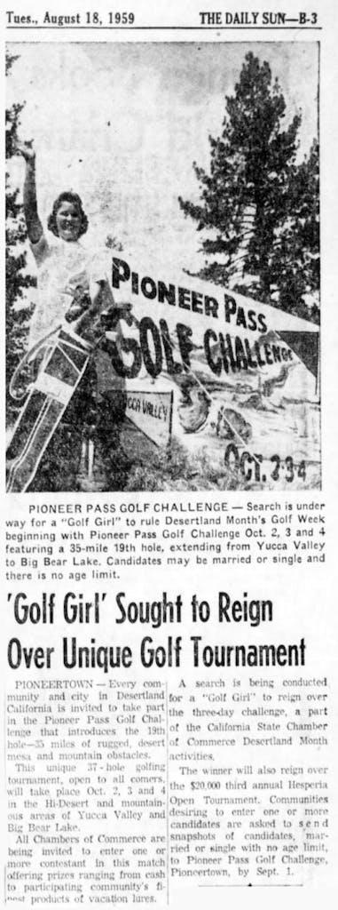 Aug. 18, 1959 - The San Bernardino County Sun article clipping