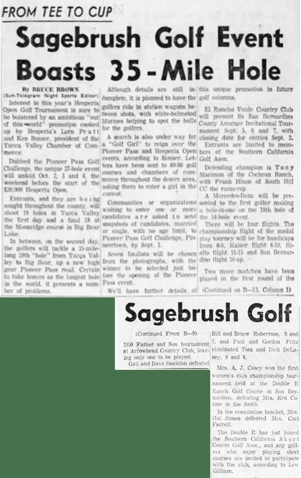 Aug. 21, 1959 - The San Bernardino County Sun article clipping