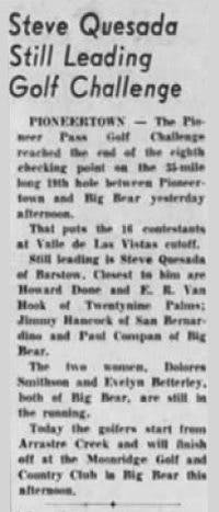 Oct. 4, 1959 - The San Bernardino County Sun article clipping