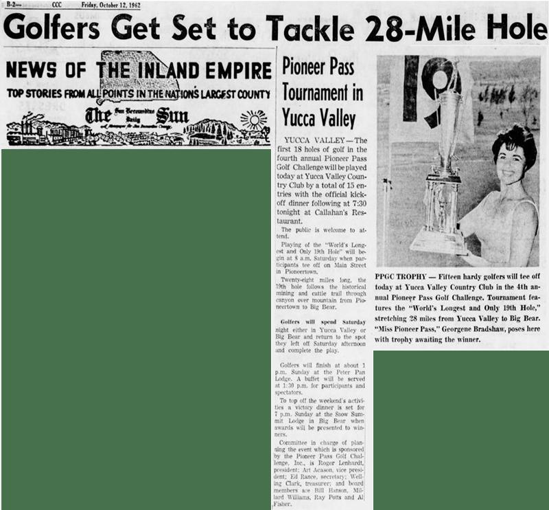 Oct. 12, 1962 - The San Bernardino County Sun article clipping