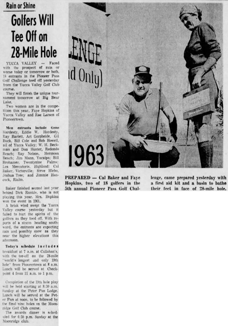 Oct. 12, 1963 - The San Bernardino County Sun article clipping