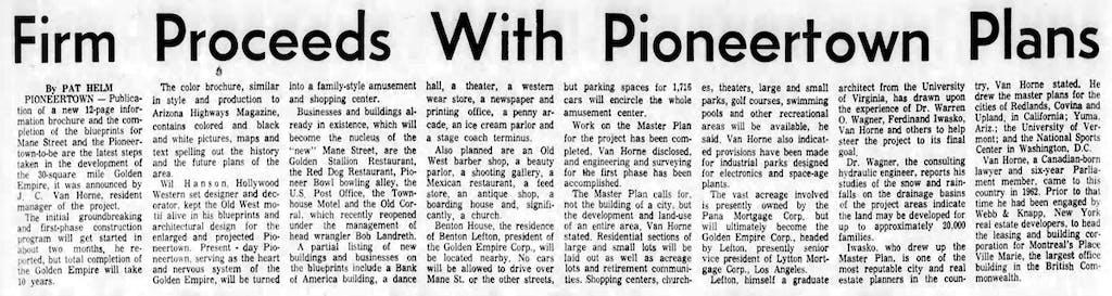 Oct. 18, 1964 - The San Bernardino County Sun article clipping