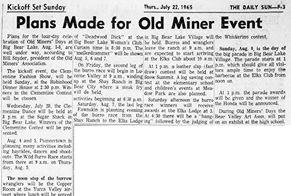 Old Miner Event featured image