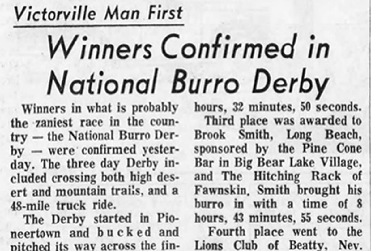 Burro Derby featured image