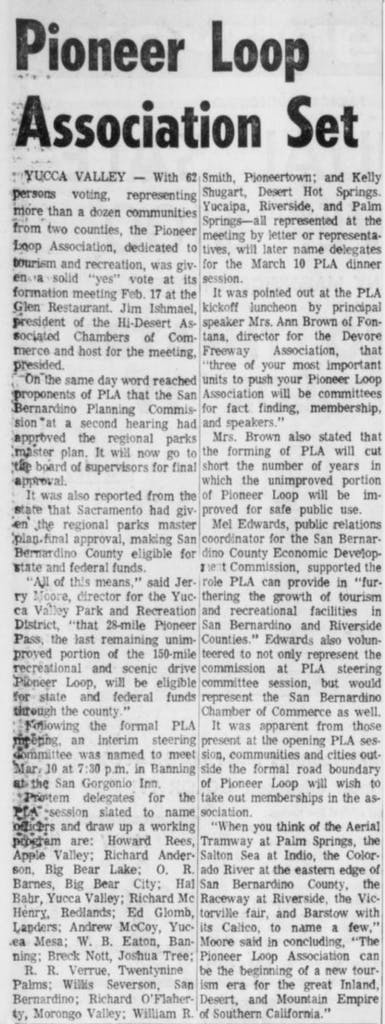 Feb. 25, 1966 - The Desert Sun article clipping