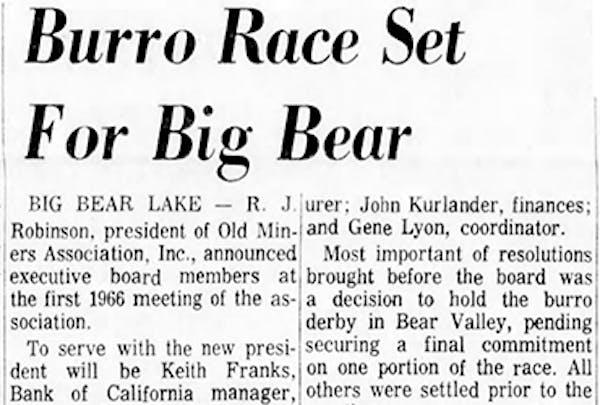 Burro Race featured image