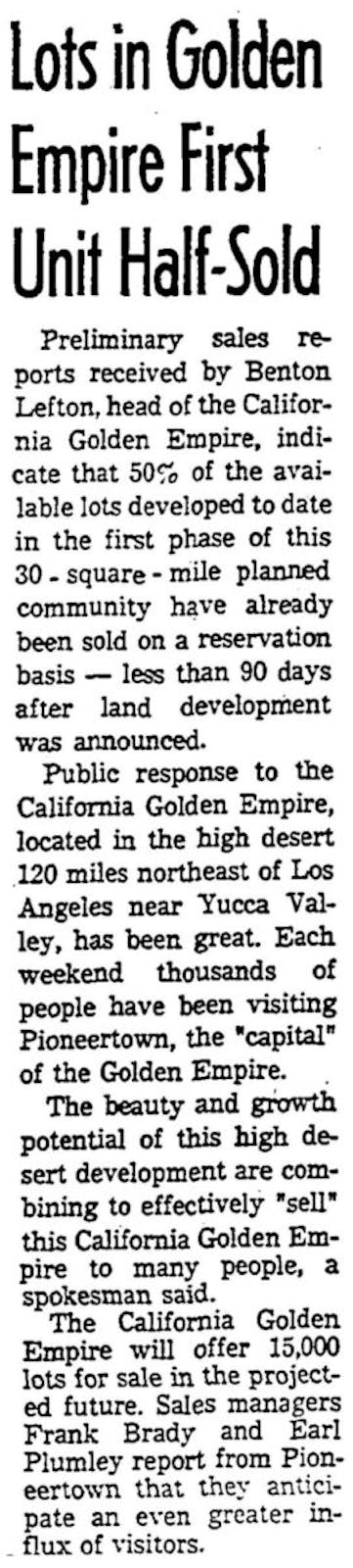 Mar. 27, 1966 - Los Angeles Times article clipping