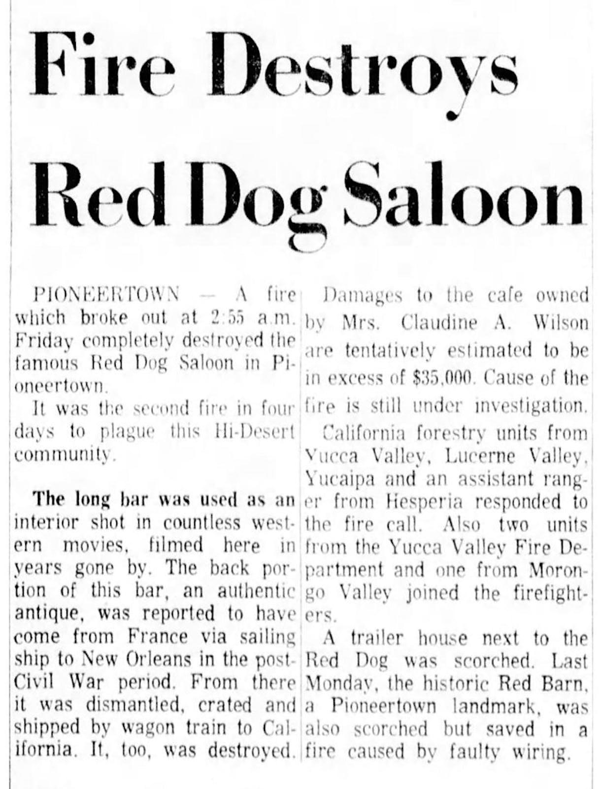 Apr. 9, 1966 - The San Bernardino County Sun article clipping