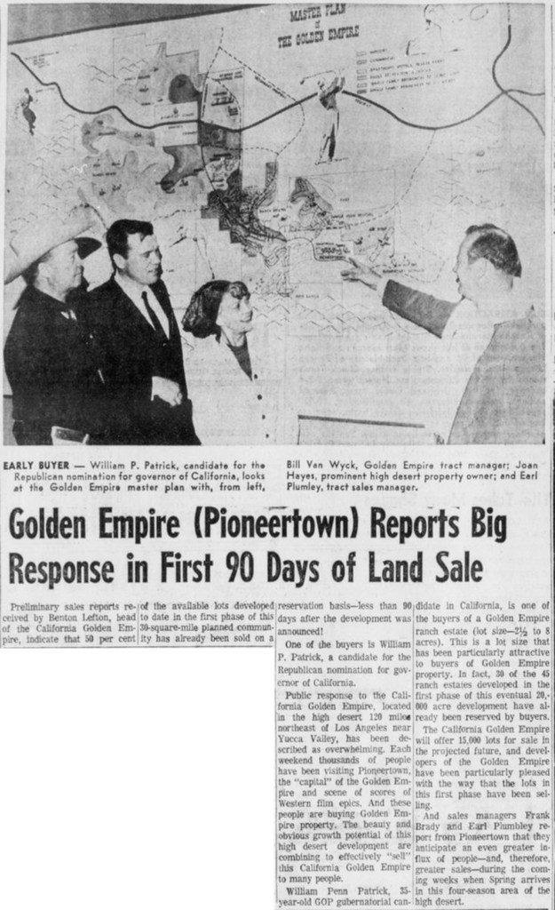 Mar. 18, 1966 - The Desert Sun article clipping