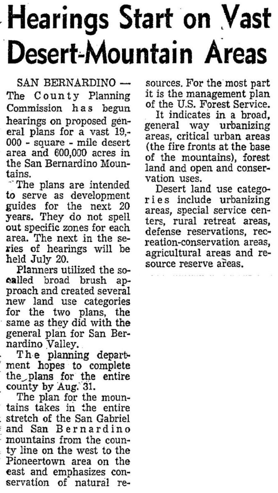 July 8, 1966 - Los Angeles Times article clipping