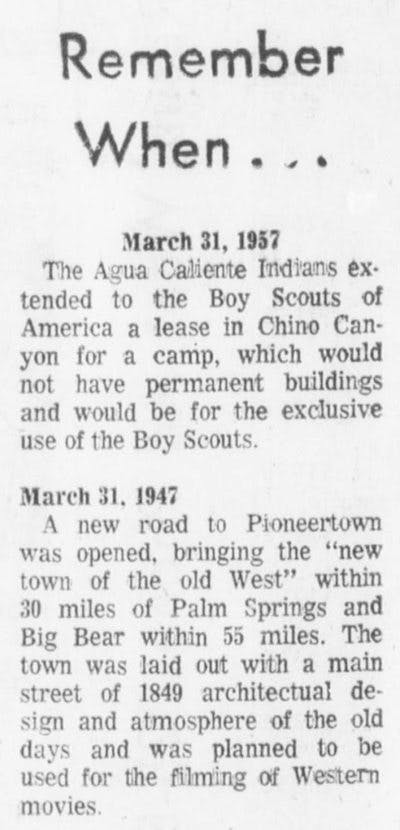 Mar. 31, 1967 - The Desert Sun article clipping