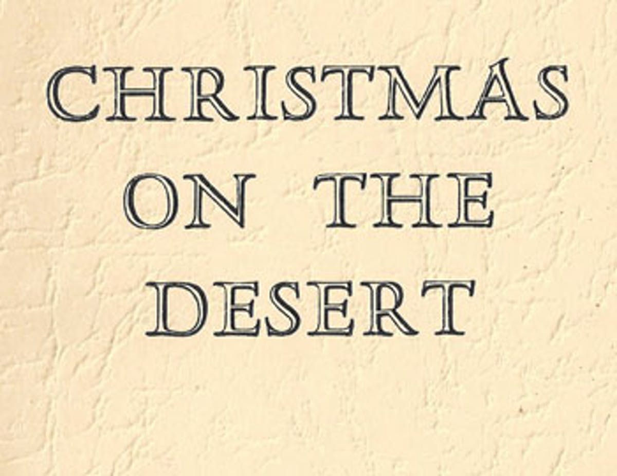 chirstmas on the desert fi