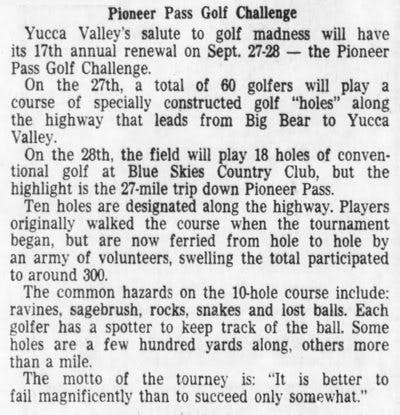 Sept. 19, 1975 Pioneer Pass Golf Challenge clipping