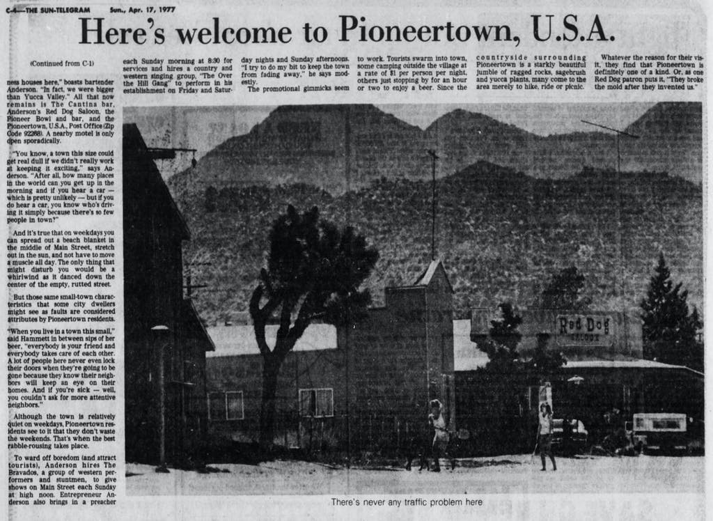 April 17, 1977 - welcome article clipping
