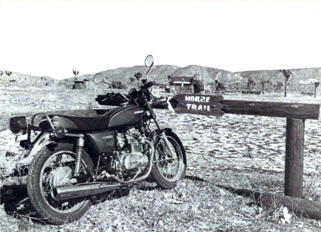 1977 motorcycle on Manestreet Pioneertown