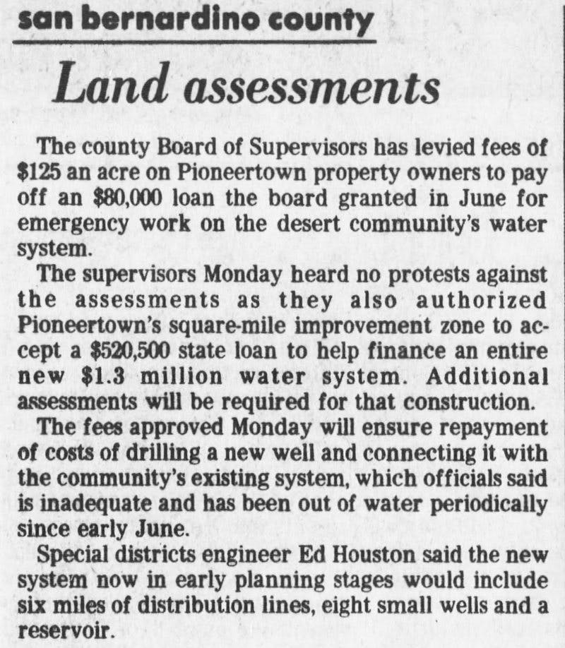 Aug. 5, 1981 - land assesment clipping