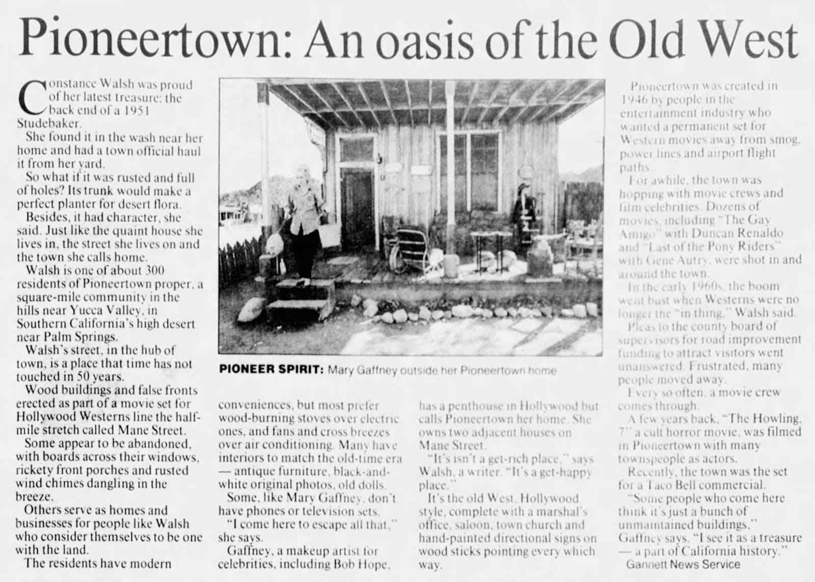 Dec. 8, 1996 - Reno Gazette Journal article clipping