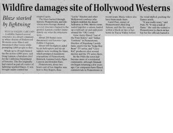 Wildfire damages western site featured image