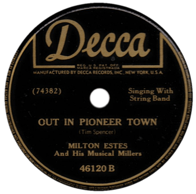 Out In Pioneer Town Decca record label