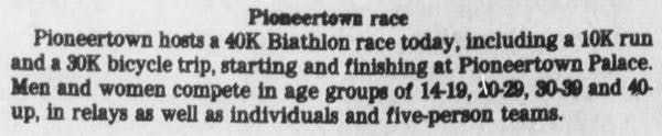 Pioneertown race clipping