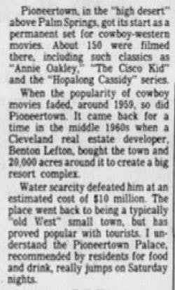 Oct. 19, 1986 The Pittsburgh Press Sun clipping